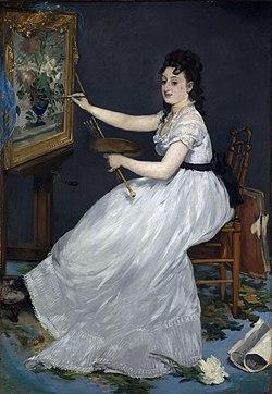 Portrait of Eva Gonzalès, 1869-1870, by Manet