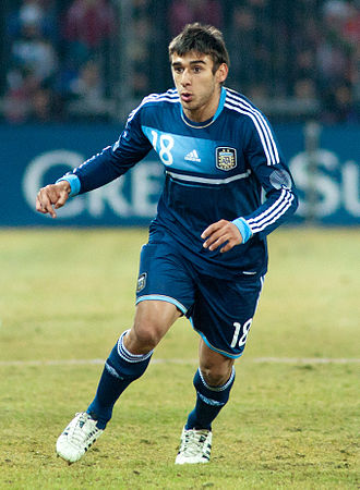 Eduardo Salvio - Salvio playing for Argentina in 2012