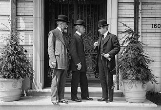 Niagara Falls peace conference - Eduardo Suárez Mujica and Domício da Gama and Romulo S. Naon at the Niagara Falls peace conference in 1914