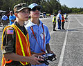 Eglin's Civil Air Patrol, Florida Wing cadet watches Cody Powell fly remote aircraft.jpg