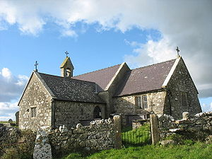 St Peulan's Church, Llanbeulan - Image: Eglwys Peulan Sant, Llanbeulan