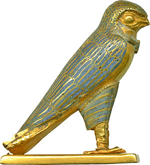 Horus - Image: Egyptian Figure of a Horus Falcon Walters 571484 Right