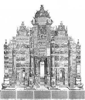 Triumphal arch - Ehrenpforte Maximilians I. Albrecht Dürer, 1515