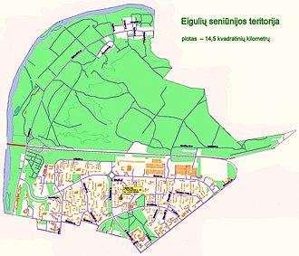 Eiguliai - Image: Eigulių seniūnijos teritorija