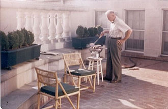 Project Solarium - President Eisenhower cooking quail in the White House Solarium.