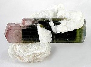 Elbaite - Image: Elbaite Albite 183432