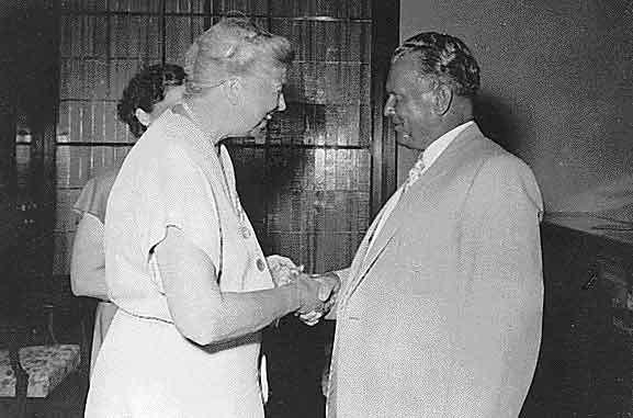 Eleanor Roosevelt and Josip Broz Tito 1953
