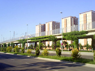 Cercanías Cádiz - Elevated tracks in Jerez de la Frontera