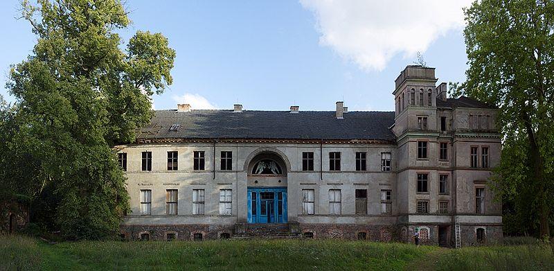 File:Elewacja frontowa, pałac w Sosnach (1835), gm. Witnica, woj. lubuskie..jpg