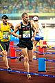 Eli Bremer in 2008 Summer Olympics modern pentathlon running event.jpg