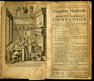 Cookbook - Eliza Smith's The Compleat Housewife, 1727