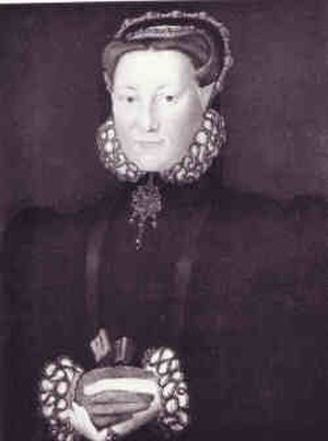 Elizabeth Leyburne - Portrait of Elizabeth Leyburne attributed to Hans Eworth, c.1560