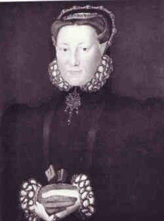 Thomas Howard, 4th Duke of Norfolk - Portrait of Elizabeth Leyburne attributed to Hans Eworth, c. 1560