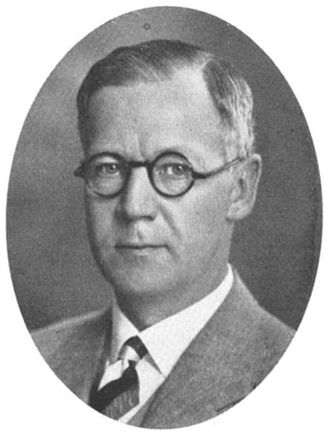 Facit - Elof Ericsson (1887–1961), founder in 1922 of AB Åtvidabergs Industrier. Photo from 1937.