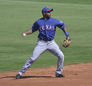 English: Elvis Andrus, baseball shortstop for ...