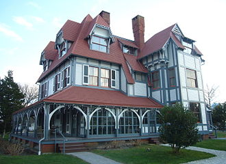 Cape May, New Jersey - Emlen Physick Estate (1879), Frank Furness, architect. Victorian house museum at 1048 Washington Street.