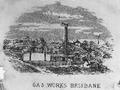 Engraving of the Brisbane Gas Company's gasworks, Petrie Bight, circa 1868.tiff