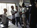 Entrepreneurs demonstrating robotic product in Startup Village.jpg