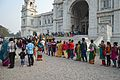 Entry Queue - Victoria Memorial Hall - Kolkata 2014-01-05 5644.JPG