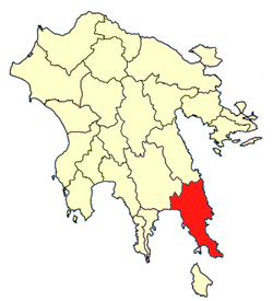 Location of Epidavros Limira Province