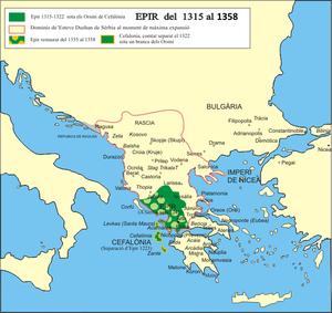Το Δεσποτάτο της Ηπείρου από το 1315 έως το 1358