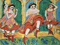 KIRCHNER Ernst Ludwig  Czardas Dancers 1908-1920