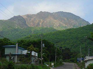 Mount E Volcano on the island of Hokkaido, Japan