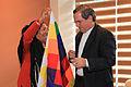 Esther Morales, hermana del presidente de Bolivia Evo Morales se reunió con el Canciller Ricardo Patiño (8001320000).jpg