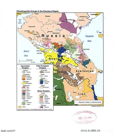 Ethnolinguistic groups in the Caucasus region, 2004