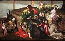 Evanouissement de la Vierge pendant le transport du Christ au tombeau-Lorenzo Lotto mg 9997.jpg