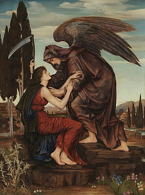 Azrael - Angel of Death by Evelyn De Morgan, 1881