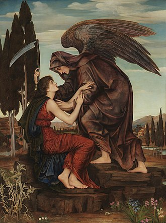 Azrael - Angel of Death by Evelyn De Morgan, 1881. Sometimes identified with the angel Azrael.
