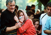 Funeral of a civilian killed in Sarajevo. Photo by Mikhail Evstafiev