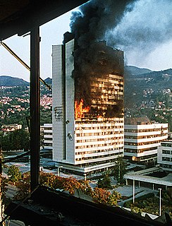 Siege of Sarajevo the longest siege of a capital city in the history of modern warfare