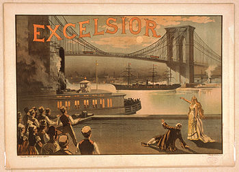 Excelsior Poster 1883 Brooklyn Bridge New York City.jpg