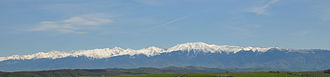 Făgăraș Mountains - Panoramic view from Sibiu