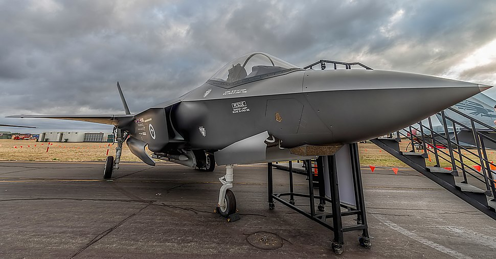 F-35A Lightning II Joint Strike Fighter Mockup on display at Centenary of Military Aviation 2014