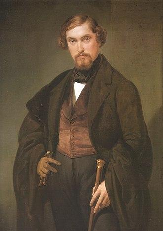 Francesco Coghetti - Portrait of Giovanni Presti, now at the Accademia Carrara in Bergamo.