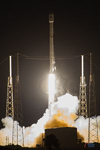 Falcon 9 by SpaceX with the JCSAT14 on top (26813328316).jpg