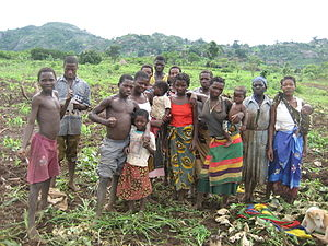 Fertility factor (demography) - A family in a rural area of Mozambique, with multiple children.