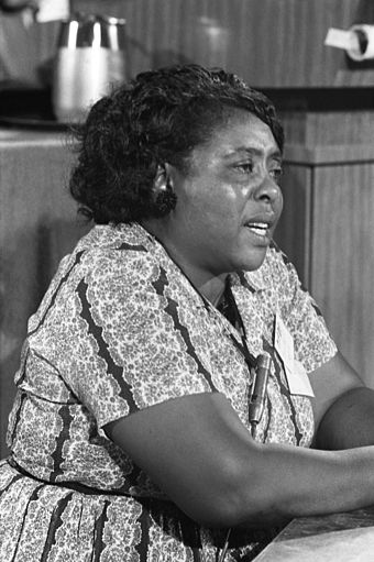 Fannie Lou Hamer of the Mississippi Freedom Democratic Party (and other Mississippi-based organizations) is an example of local grassroots leadership in the movement. Fannie Lou Hamer 1964-08-22.jpg