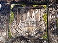 Faragott székely kapu. Műemlék ID 14836. Címer. - Budajenő, Fő utca.JPG