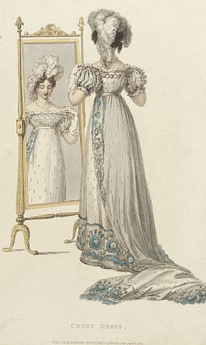 Train (clothing) - Image: Fashion Plate (Court Dress) LACMA M.83.161.213