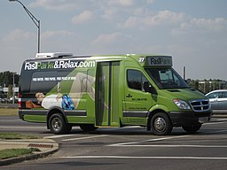 FastPark shuttle bus Winchester Rd Airways Blvd Memphis TN