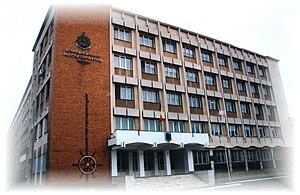 Mircea cel Bătrân Naval Academy - Entrance to the academy.