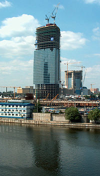The construction of Federation Tower in Moscow, Russia, the tallest building in Europe. Turner construction is the general contractor for the project.