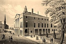 Federal Hall, Wall Street and Trinity Church, New York 1789.jpg