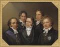 Fem berömda samtida (Johan Gustaf Sandberg) - Nationalmuseum - 16226.tif