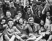 Female Dachau Waving