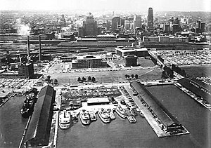 Jack Layton Ferry Terminal - The ferry terminal in 1956.